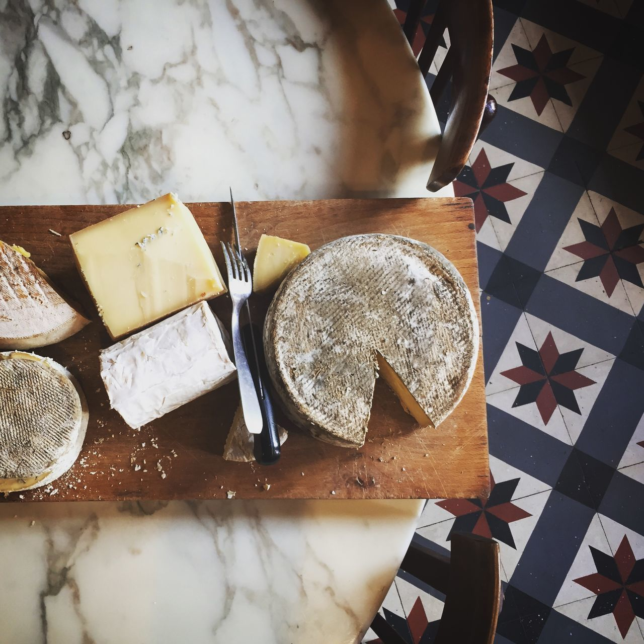 Beautiful stock photos of france, Cheese, Cutting Board, Directly Above, Flooring