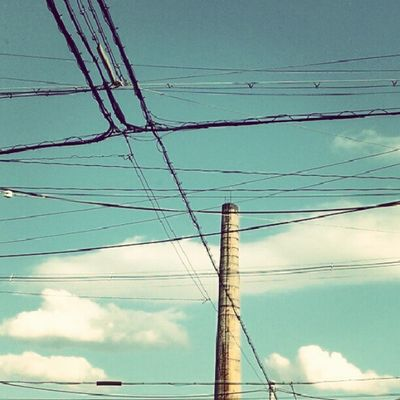#Chimney #sky #cloud #electricline #autumn Sky Autumn Cloud Chimney Electricline