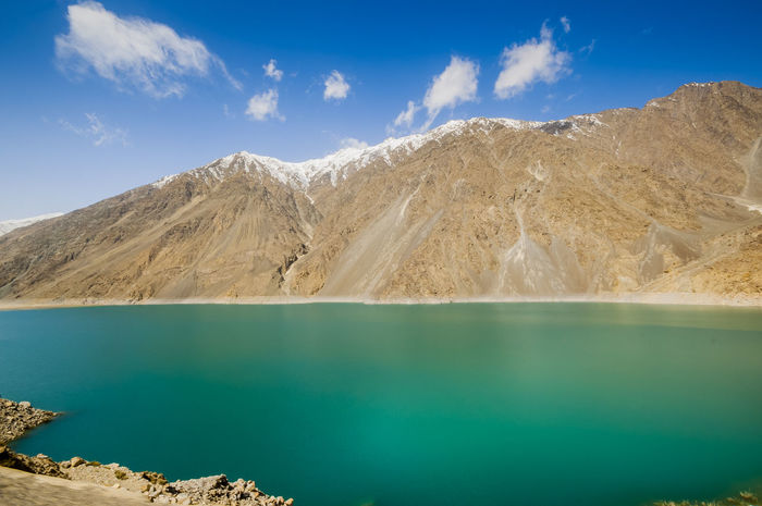 Satpara Lake,Skardu ,Gilgit and Baltistan, Pakistan Satpara Lake Skardu Pakistan Beauty In Nature Cloud - Sky Day Lake Landscape Mountain Mountain Range Nature No People Outdoors Physical Geography Scenics Sky Tranquil Scene Tranquility Water