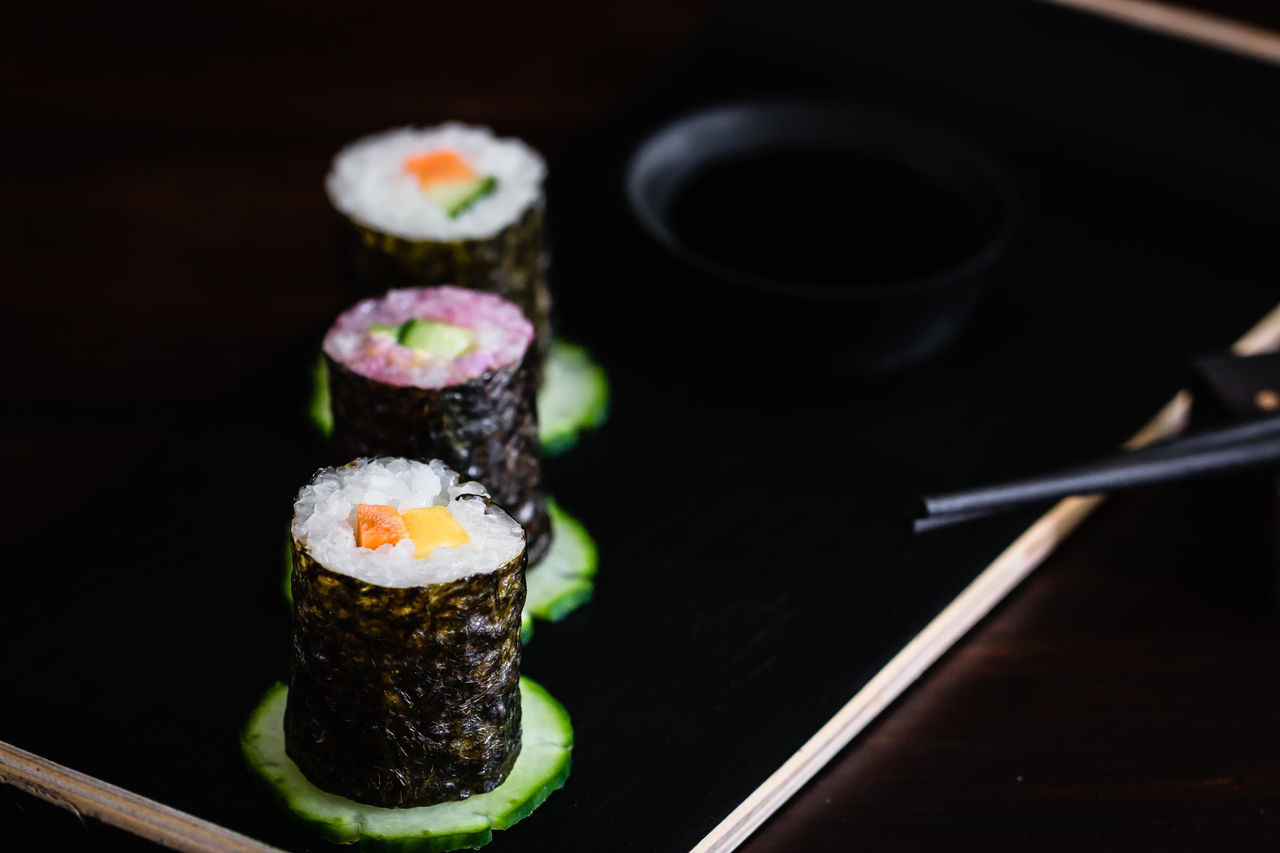 vegan sushi Chopsticks Close-up Day Food Food And Drink Freshness Healthy Eating Indoors  Japanese Food No People Ready-to-eat Sushi