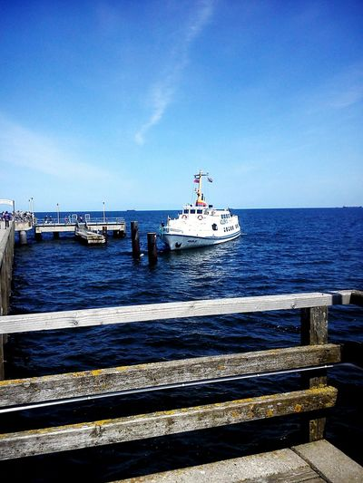 Sea Nautical Vessel Beach Horizon Over Water Pier Clear Sky Outdoors Landscape No People Sky Water Transportation Harbor