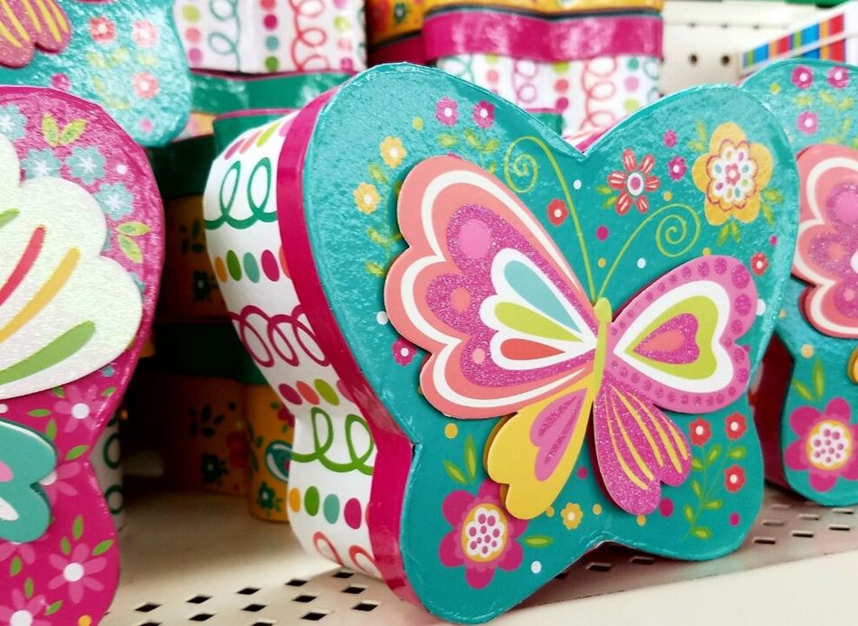 Holiday - Event Celebration Close-up No People Indoors  Tradition Day Cultures Millennial Pink Pink Color Streamzoofamily NEM Submissions AMPt_community Pink Box Butterfly Accesories Decor Decoration Items For Sale Store Shelf Shop Spring Home Decor