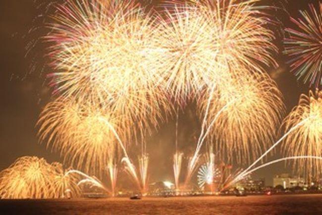 名古屋港 名古屋港芸術花火 2015  花火 全然上手く撮れないけれど…花火はとても綺麗でした(*'͜' )⋆*