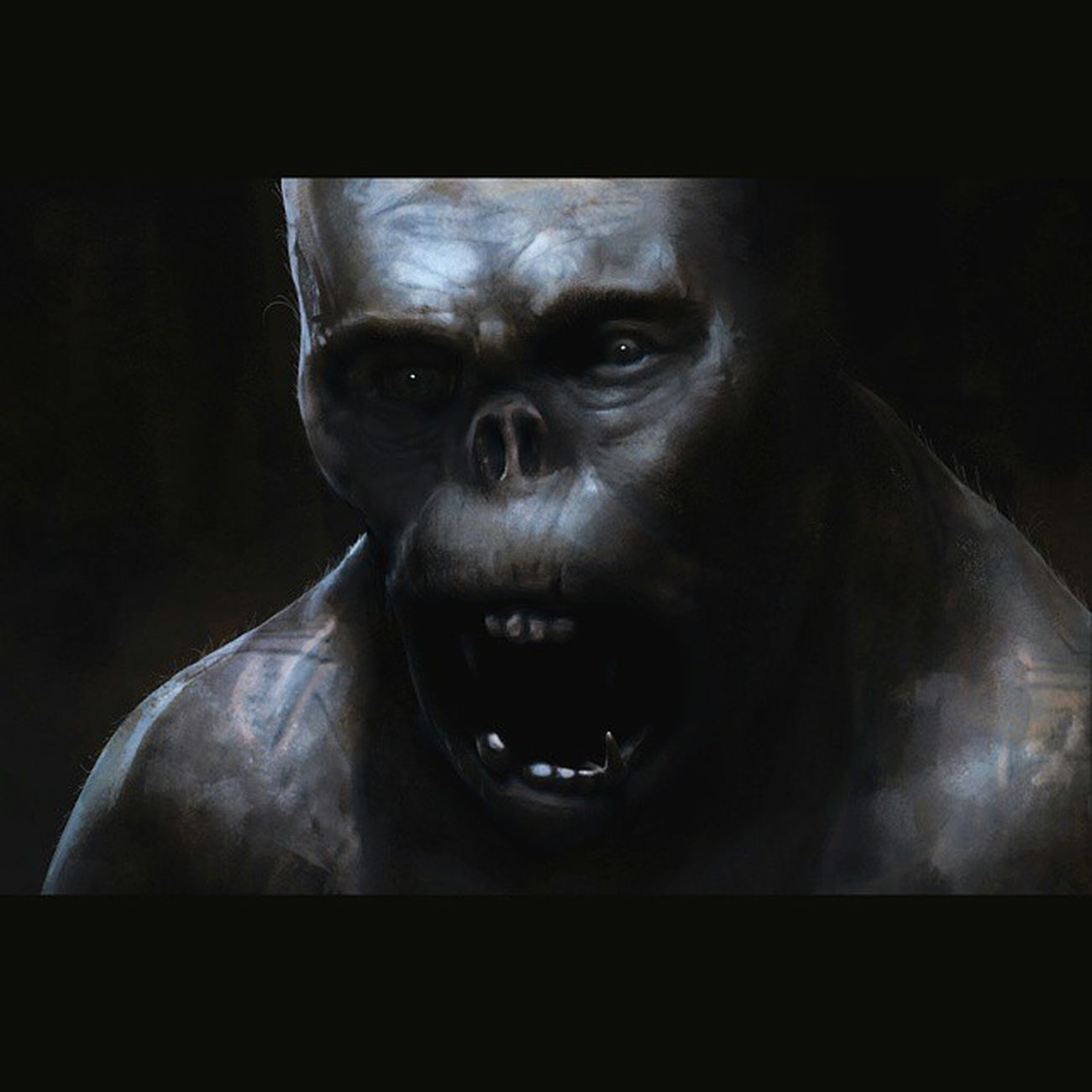 Ogre paint sketch thingy Conceptart Squaredroid Illustration Painting Photoshop Creature 2Dart Sketch