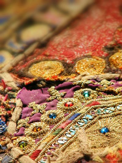 Indian patchwork textile. Textile Ornate Indian Patchwork Colour Indian Ethnicity Fabric Needlework Embroidery Ethnic Beauty Ethnic Copy Space Awehaven Creative Patchwork