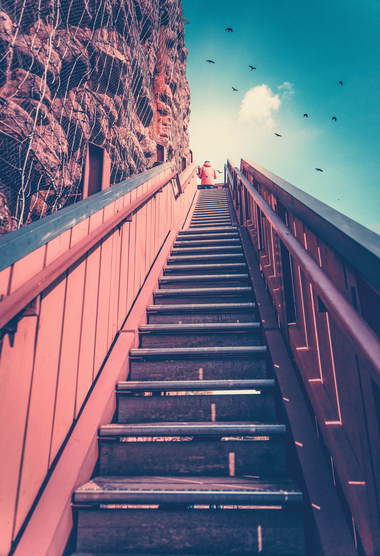 Stairs to heaven Architecture Birds In Flight Built Structure EyeEm Best Shots EyeEm Gallery EyeEmBestPics Geometric Abstraction Geometric Shape Outdoors Stairs Stairs_collection Steps Steps And Staircases The Way Forward Travel Travel Destinations Travel Photography Neighborhood Map