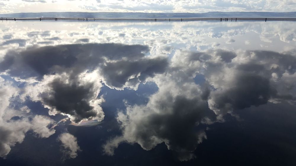 Cloud - Sky Water Nature Outdoors Beauty In Nature No Filter Day Landscape Reflections In The Water West Kirby Uk Wirral Wirralcountrypark