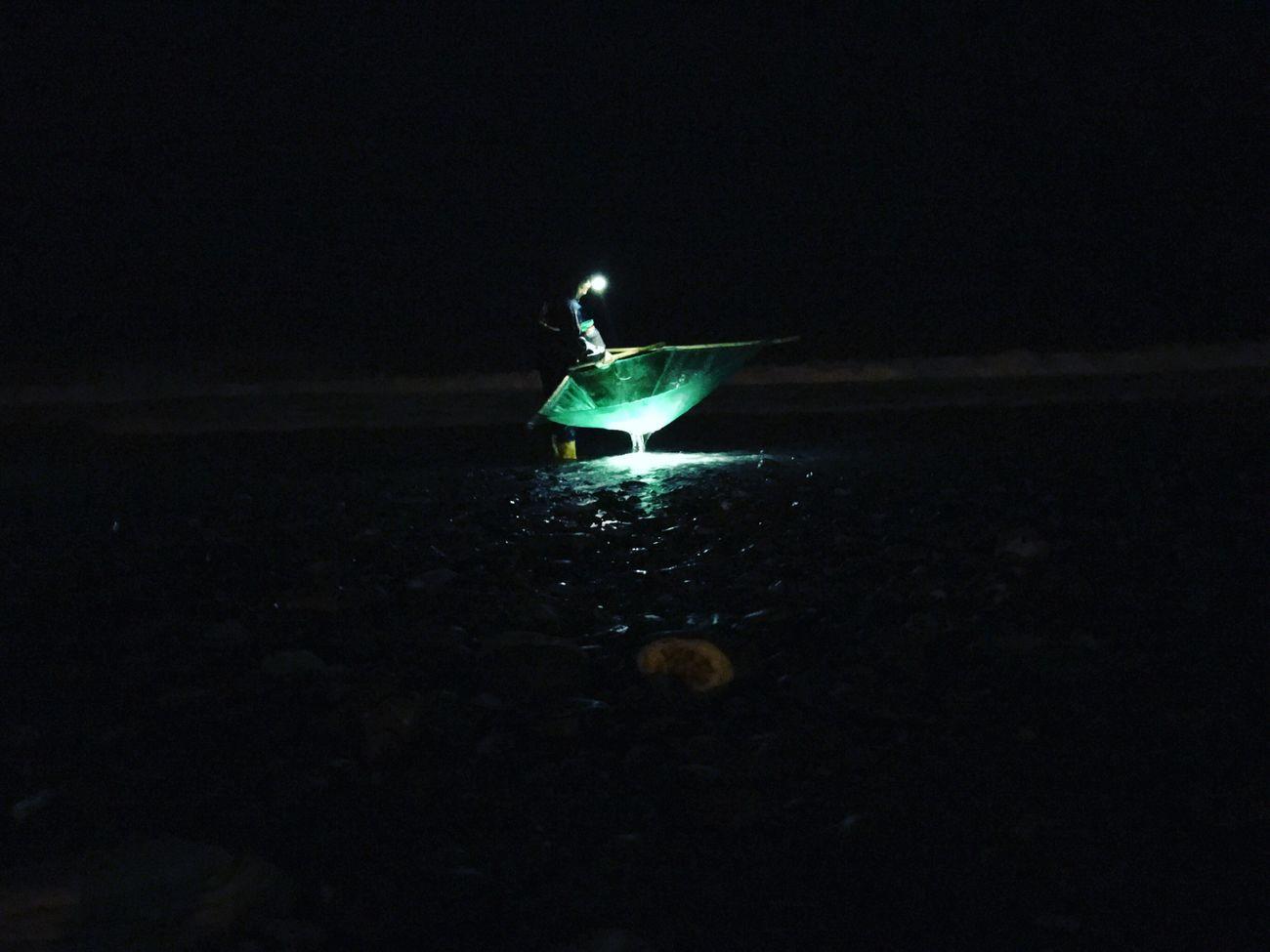 Nature Night Outdoors Water Beach Fisherman Winter