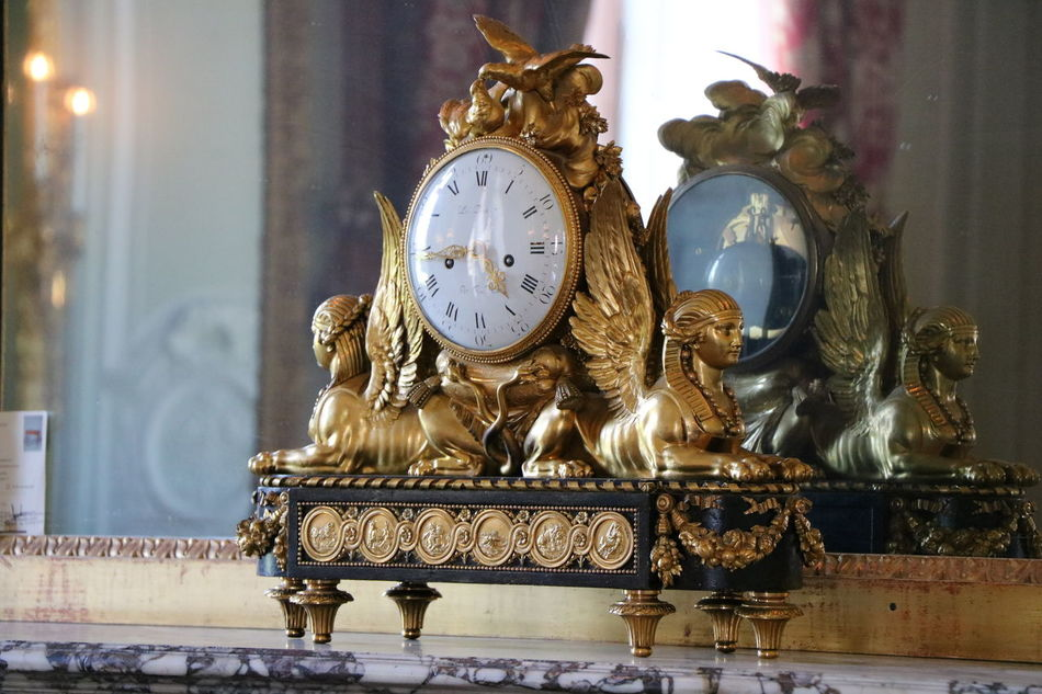 Close-up Day France Gold Colored Indoors  No People Old-fashioned Petit Trianon Sculpture Statue Versailles
