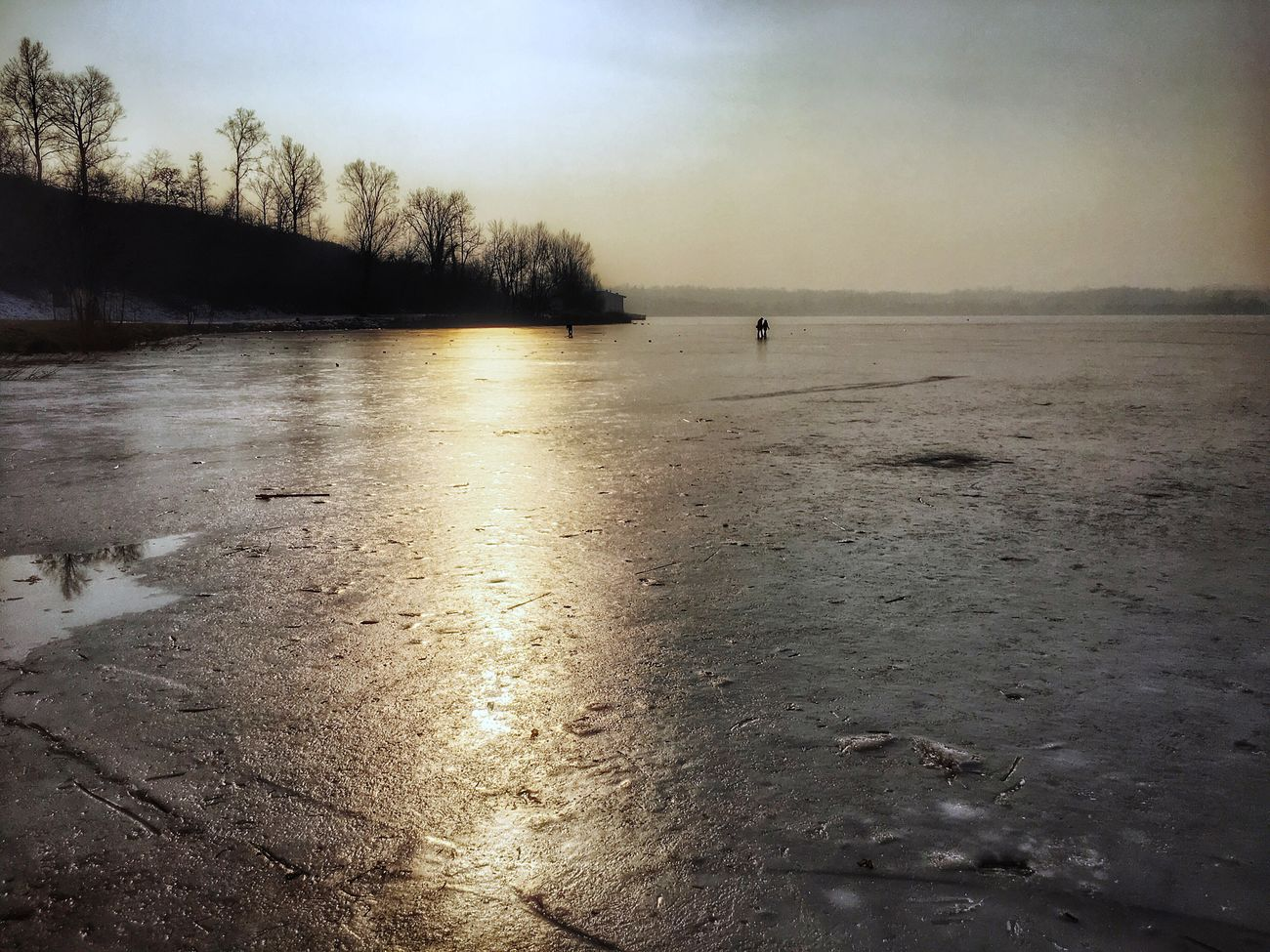 Cold... Nature Outdoors Iced Water Lake Frozen Sky Beauty In Nature Tranquil Scene So Far People Scenics Landscape Frozen Nature Walking Around EyeEm Nature Lover Eye4photography  From My Point Of View in Brianza