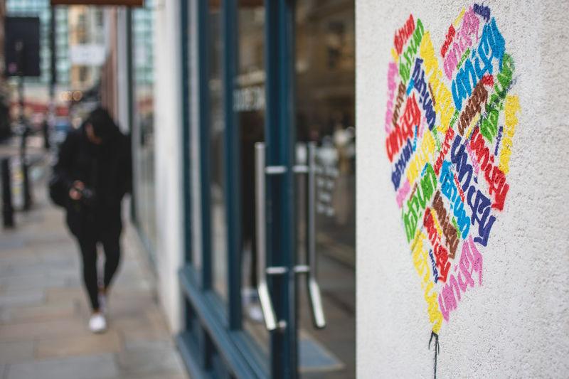 Multi Colored Day Outdoors Close-up Hanging Architecture Love Love Heart Graffiti Art Graffiti Street Art Street Art/Graffiti London Shoreditch Art Is Everywhere Postcode Postcards