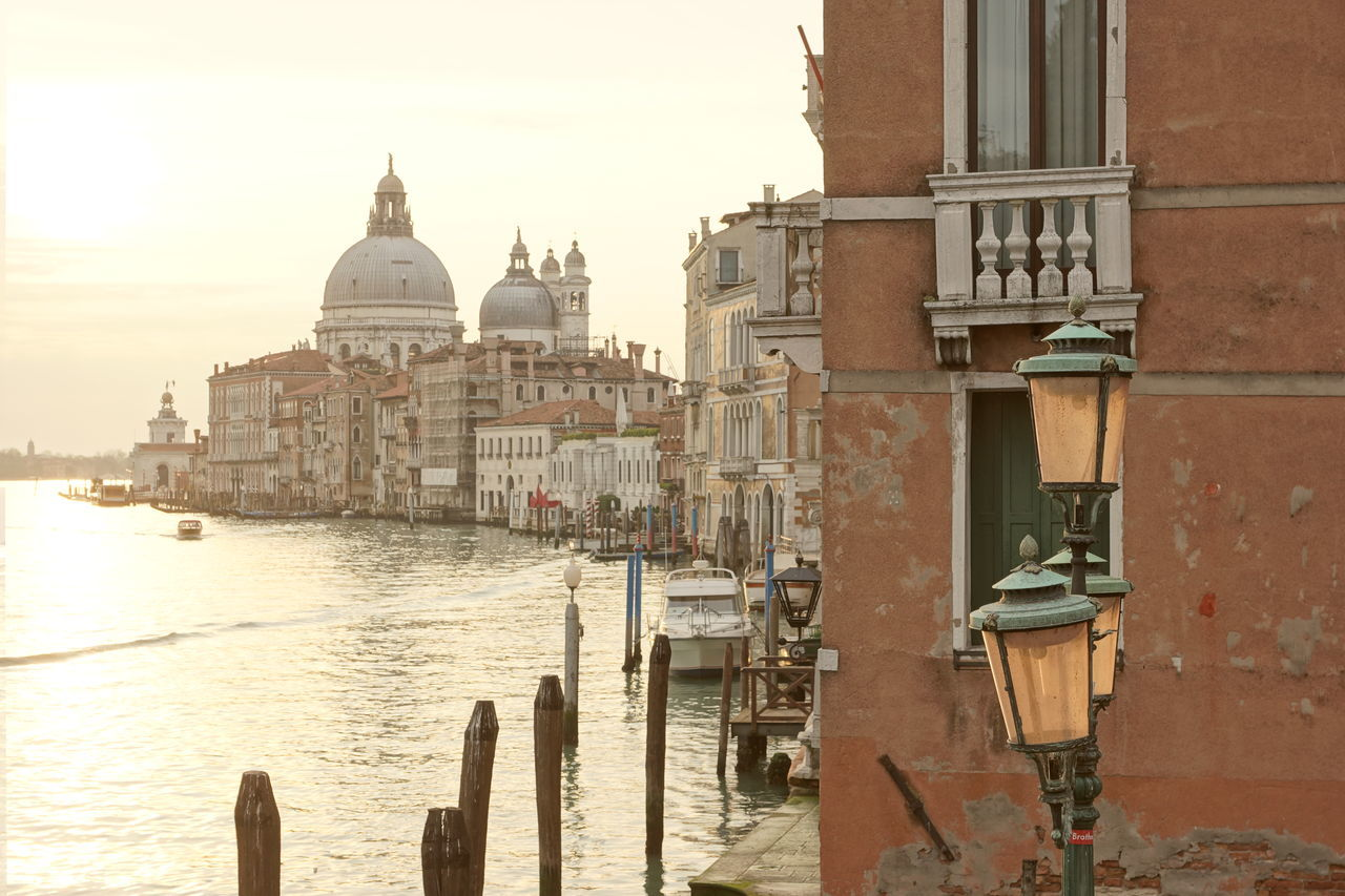 Santa Maria della Salute at dawn Ancient Architecture Baroque Building Exterior Built Structure Canale Grande City Day Dome Famous Place Historical Building History Lantern No People Outdoors Past Place Of Worship Religion Santa Maria Della Salute Spirituality Sunrise Travel Destinations Venice Water Waterfront