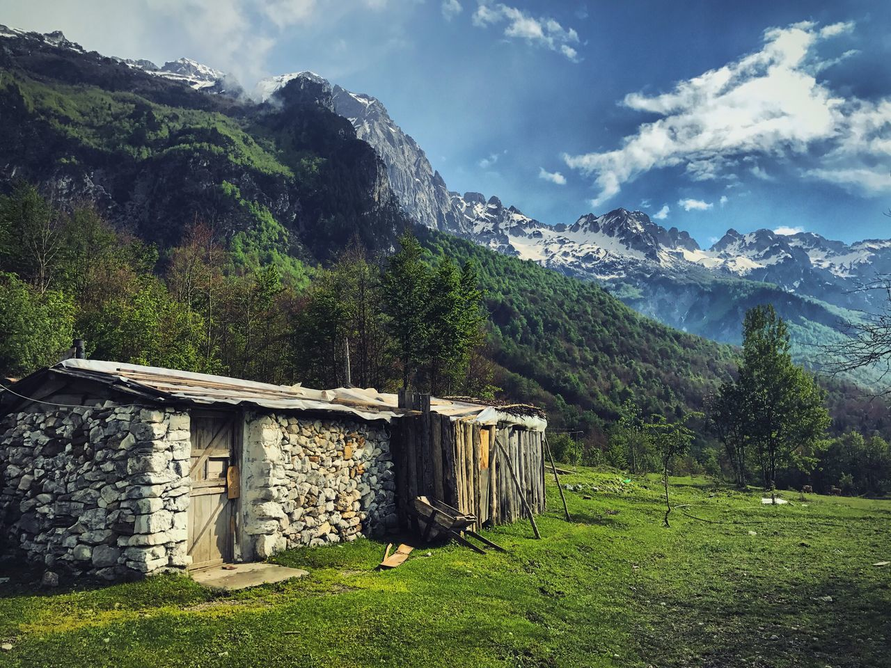Albania Natute Mountain Nationalpark Albanian View Grass Day Outdoors Tree Green Color No People Beauty In Nature Sky Nature Built Structure Architecture Building Exterior Scenics Tranquility Landscape