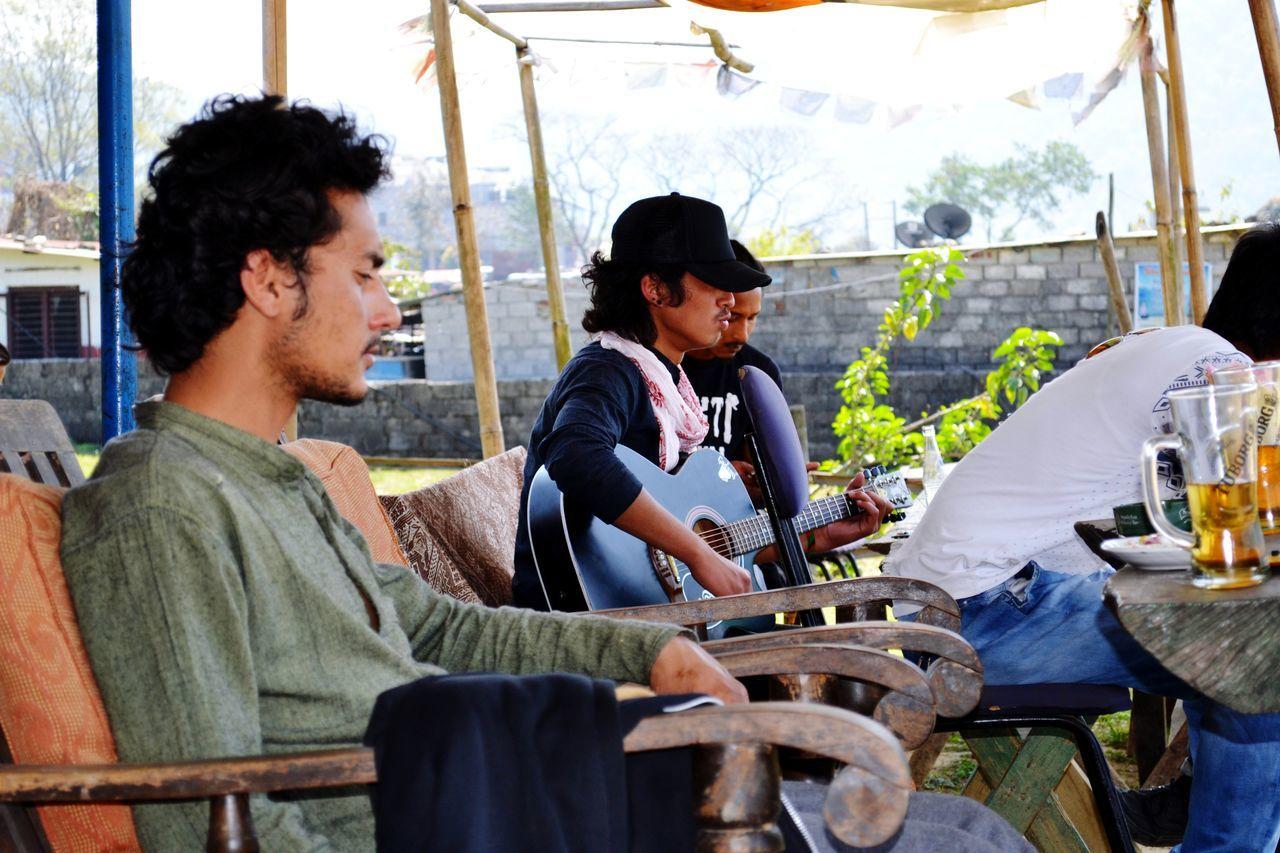 Young Adult Only Men Band Music Phewa Lake Pokhara!