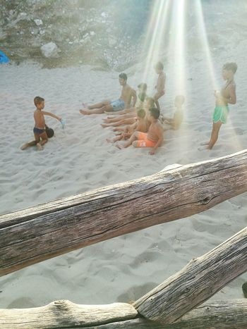 """Boys playing on the beach under the sun"" Taking Photos Hello World Cheese! Enjoying Life Puglia Puglia South Italy Lidolecanne Taranto Pulsano Marinadipulsano Boys Children Sunsset Sun Playing Playing Games Seaside"