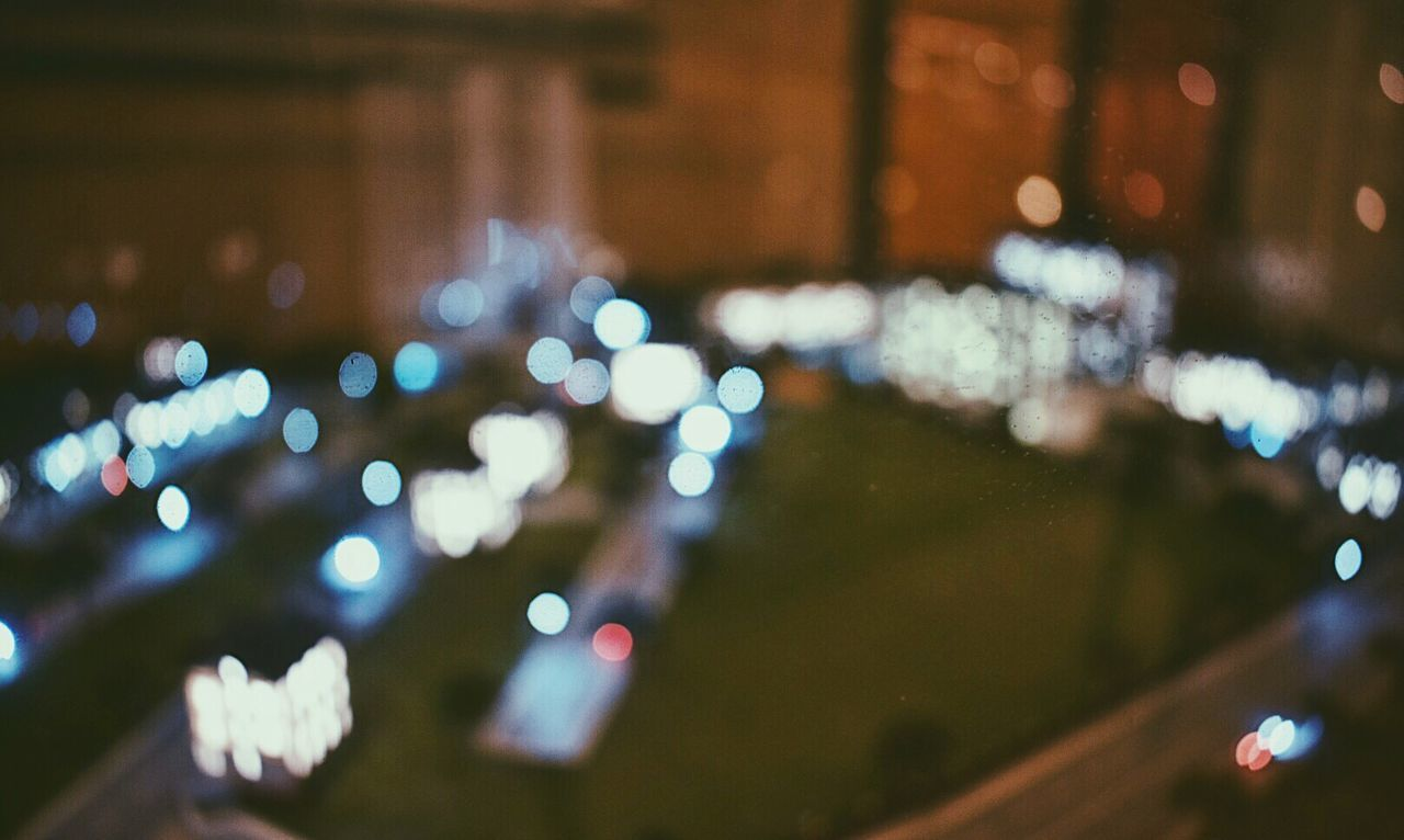 Illuminated Night Lighting Equipment Defocused City No People Close-up Outdoors Architecture