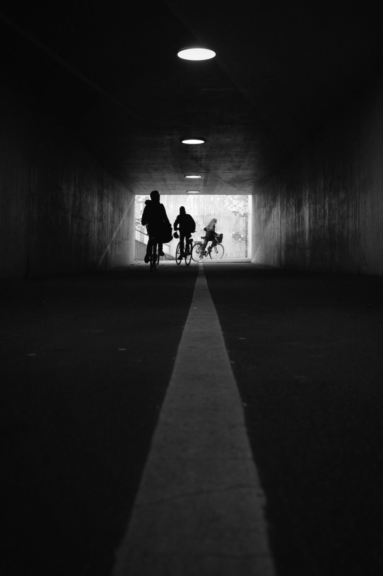 Black And White Monochrome Silhouette Street Photography Bicycle Darkness And Light Low Angle View