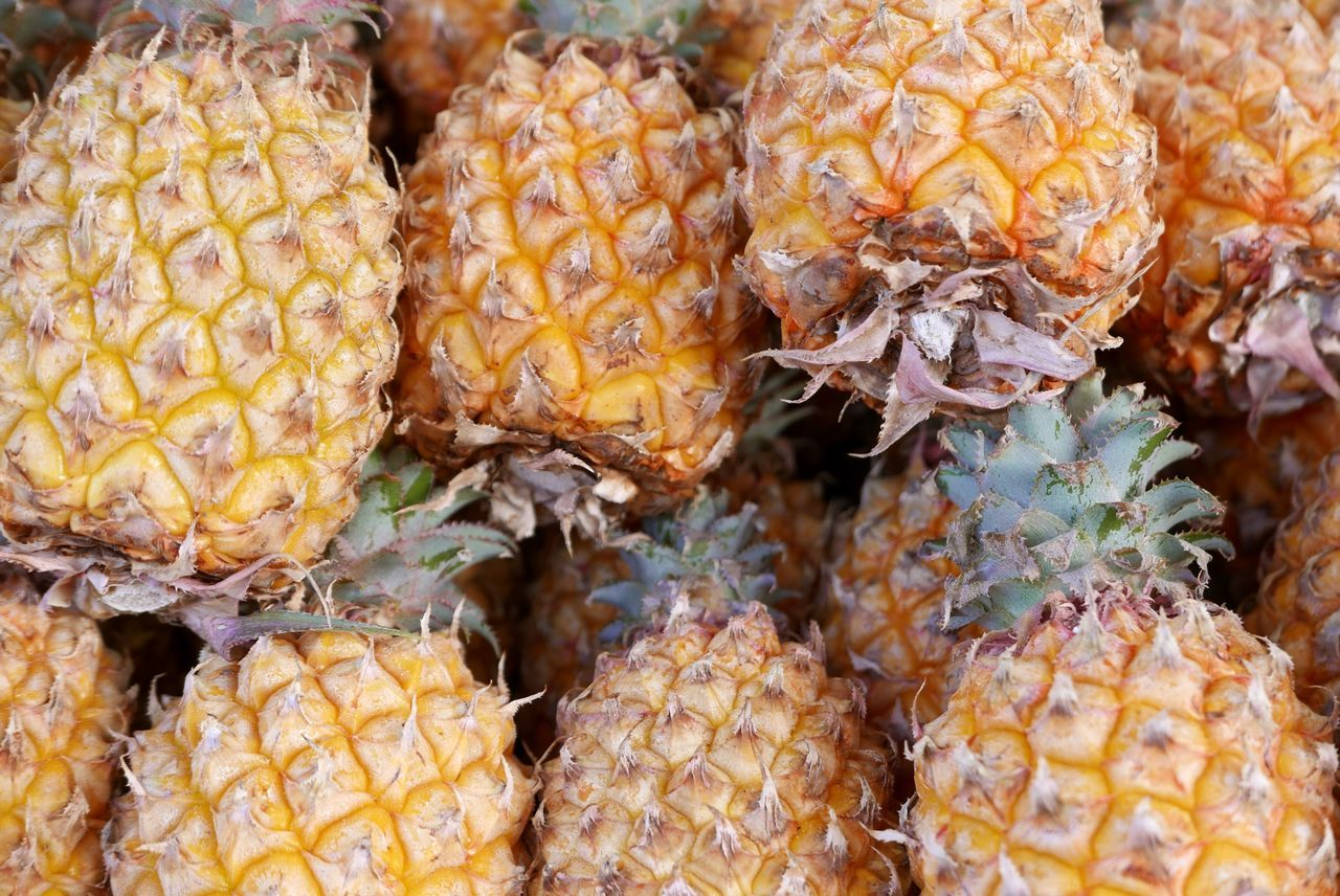 pineappels Pineapples Fruits Exotic Fruits Food Market
