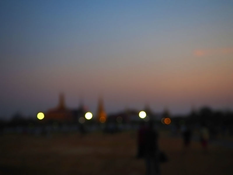 Blury Bokeh Bokeh Lights City City Life Cityscapes Colorful Dusk Exceptional Photographs Illuminated Landscapes Light Multi Colored Night Outdoors Sanamluang Sky Spotted In Thailand Sunset Tadaa Community Travel Adapted To The City EyeEmNewHere Still Life The City Light