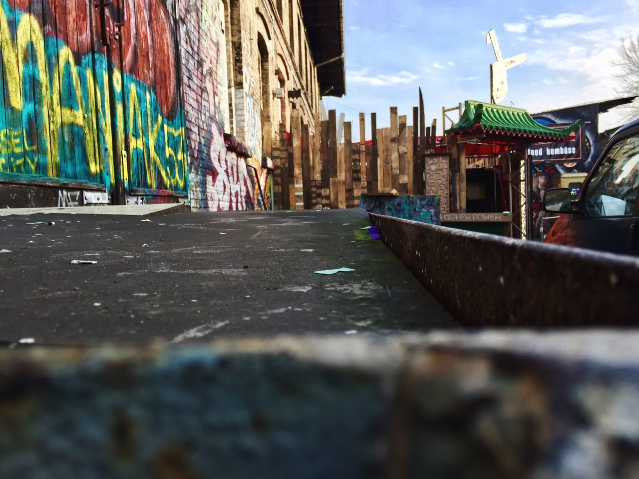 Built Structure Building Exterior Architecture Street Multi Colored City Day Outdoors Road Surface Level Sky Abandoned Capture Berlin
