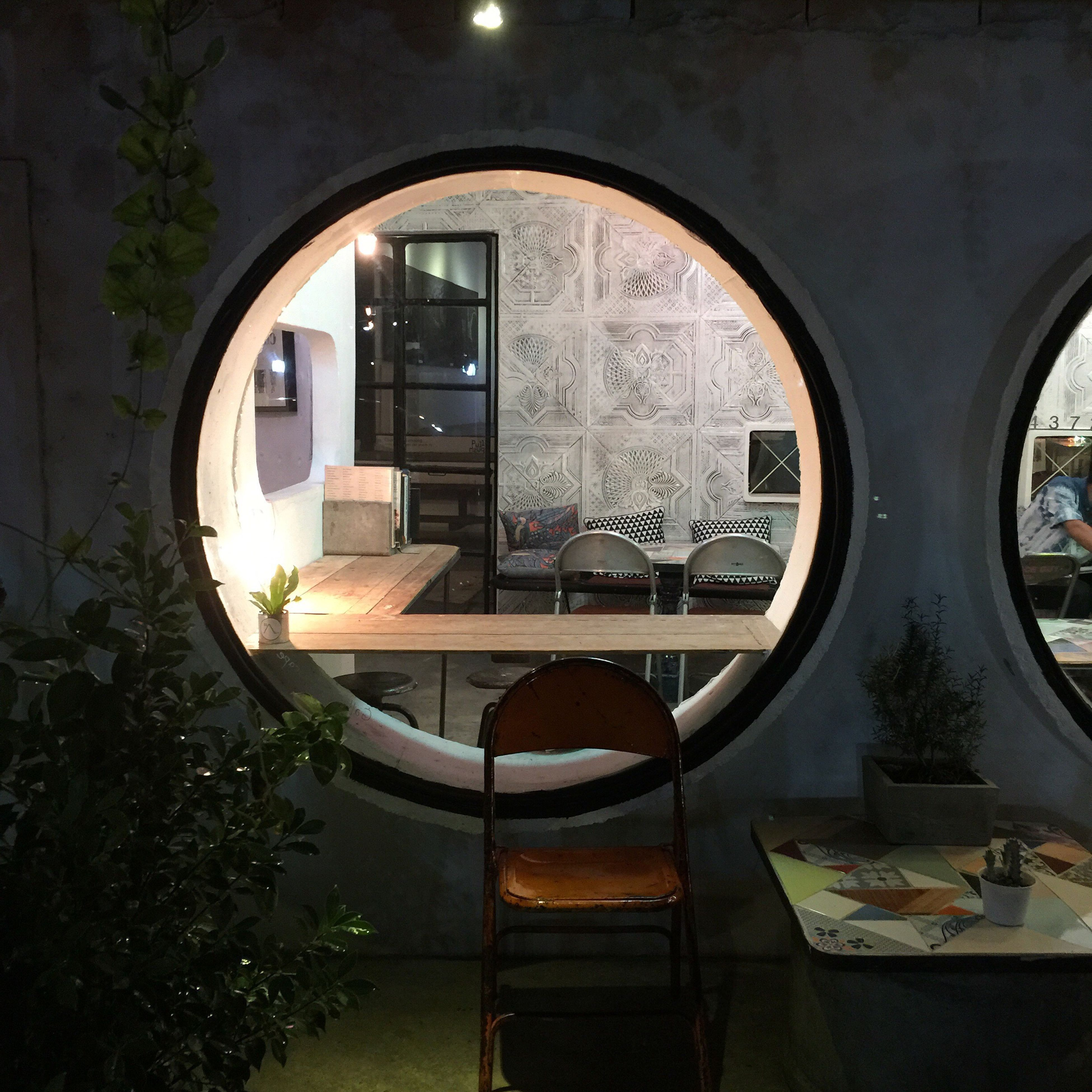 built structure, architecture, indoors, window, arch, reflection, building exterior, glass - material, sunlight, no people, building, house, day, tree, circle, transparent, transportation, mirror, car, interior
