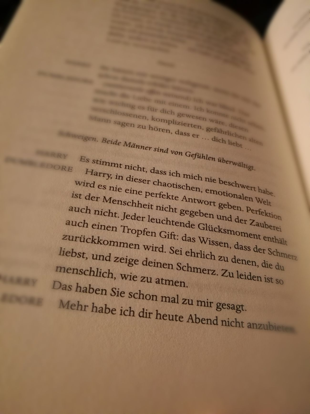 Harry Potter Harrypotter Cursed Child Harry Potter ❤ Harry Potter ⚡ Harry Potter And The Cursed Child German Quote German Quotes Zitat Dumbledore Wisdom Life Love Pain Human