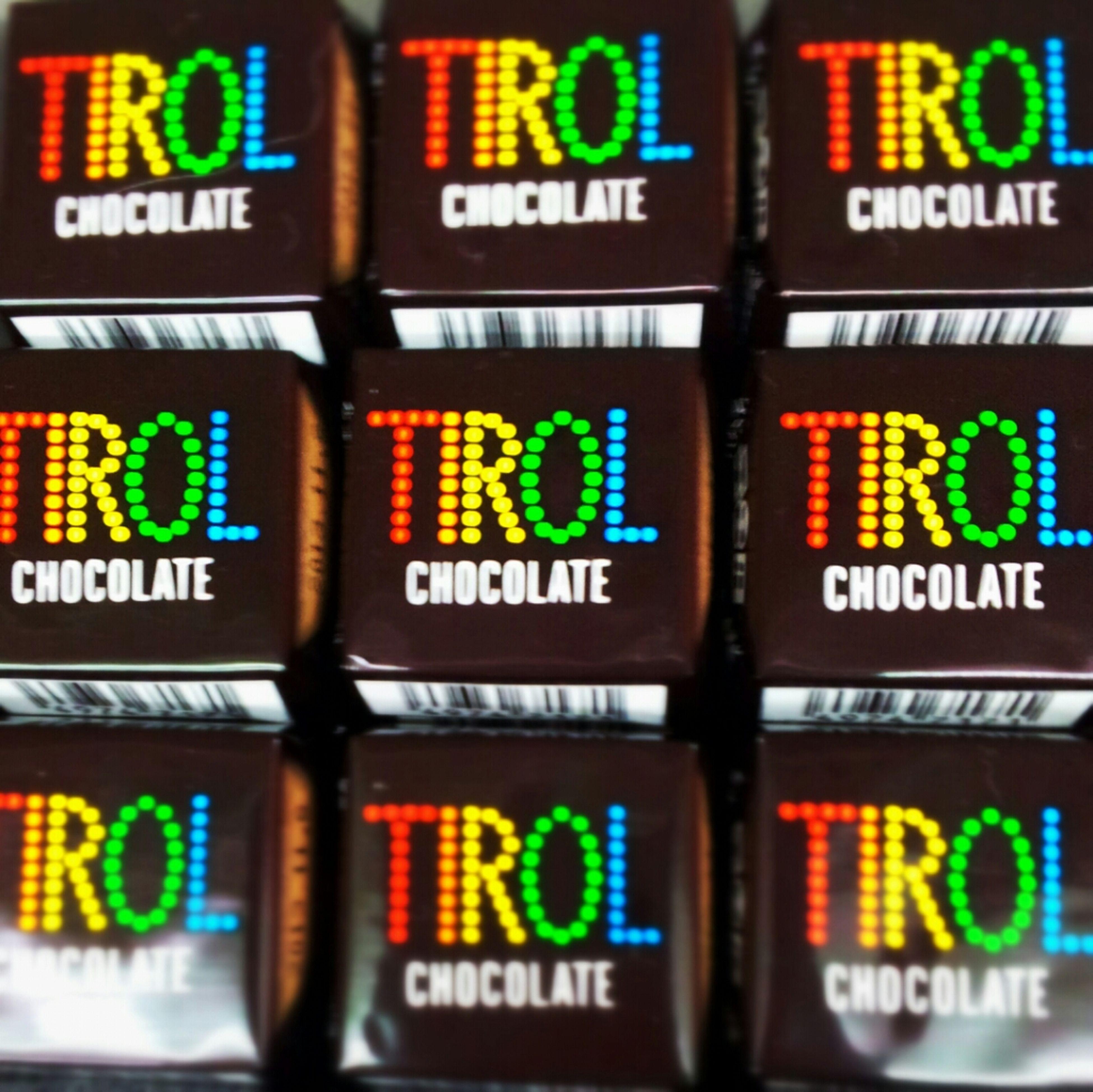 #Tirol #chocolate #box #cube #rainbow #colour