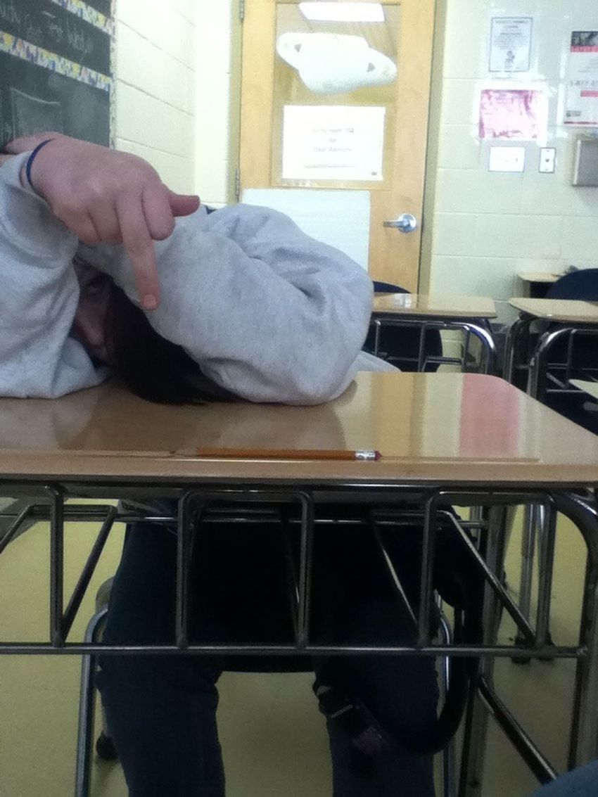 Trying To Sleep In Class
