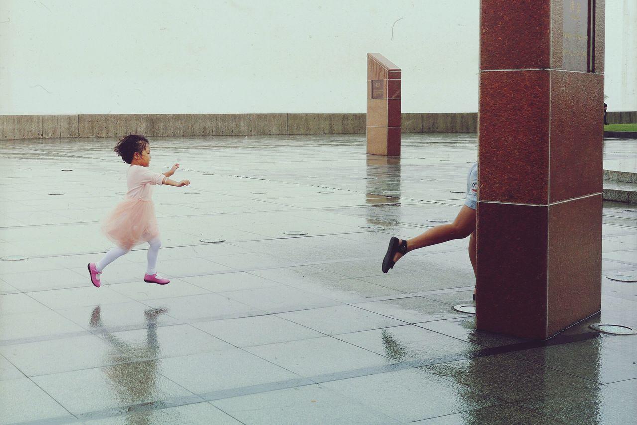 Women Around The World Childhood Playing Outdoors Minimalist Little Girl People