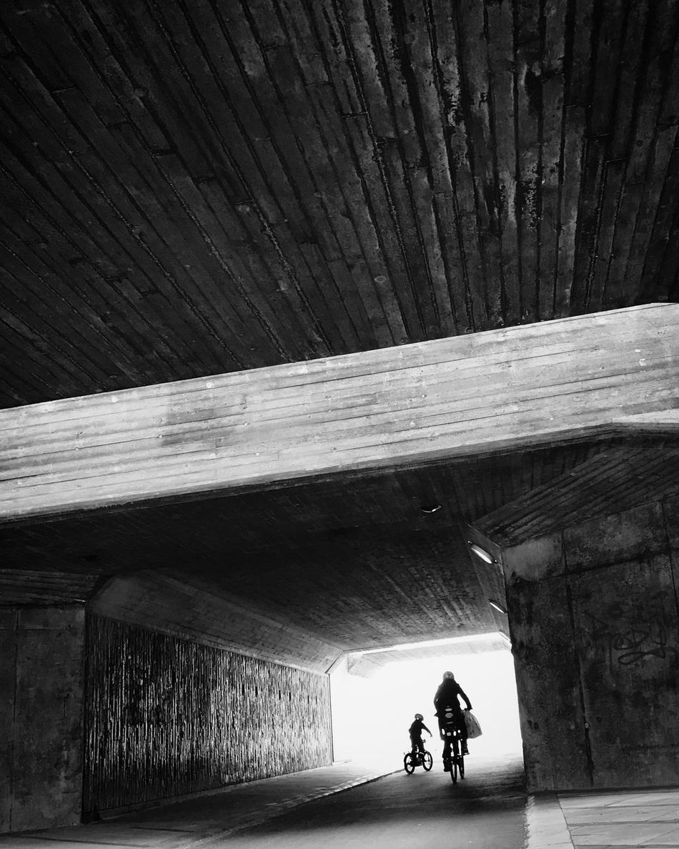 Architecture Tunnel Outdoors People Bw_collection Black And White Monochrome Street Photography Silhouette Low Angle View