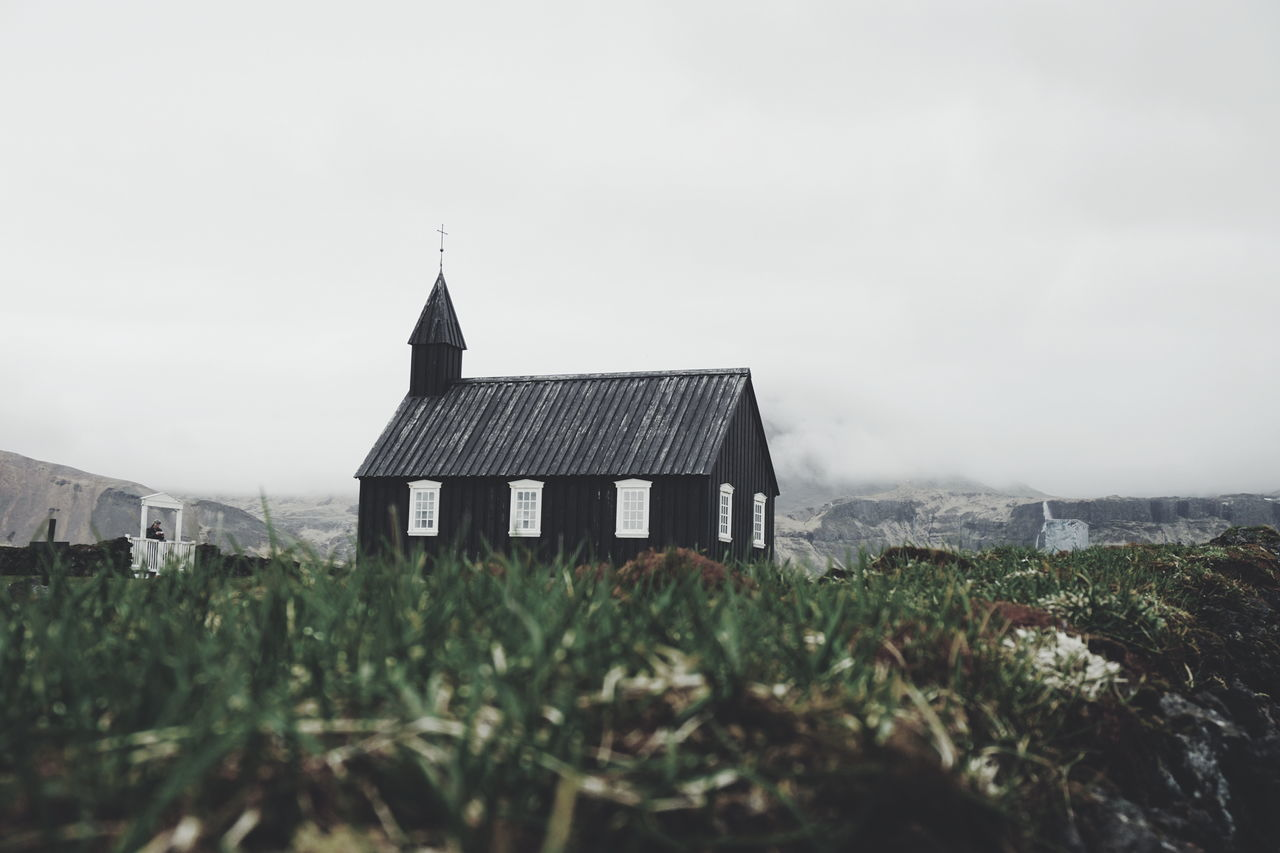 The Black Church,Budir, Iceland Architecture Architecture Architecture_collection Beauty In Nature Building Exterior Built Structure Búðir Church Churches Day Field House Iceland Iceland Memories Iceland Trip Iceland_collection Icelandic Nature Landscape Nature No People Outdoors Plant Roof Sacred Places Sky The Architect - 2017 EyeEm Awards