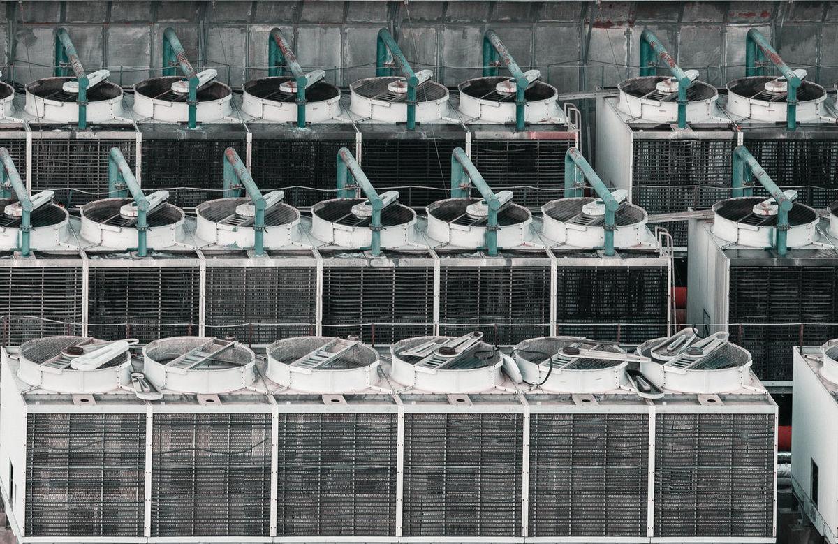 中央空调机 Abundance Air Conditioning Arrangement Central Air Conditioning Day In A Row Large Group Of Animals Large Group Of Objects Machine No People Outdoors