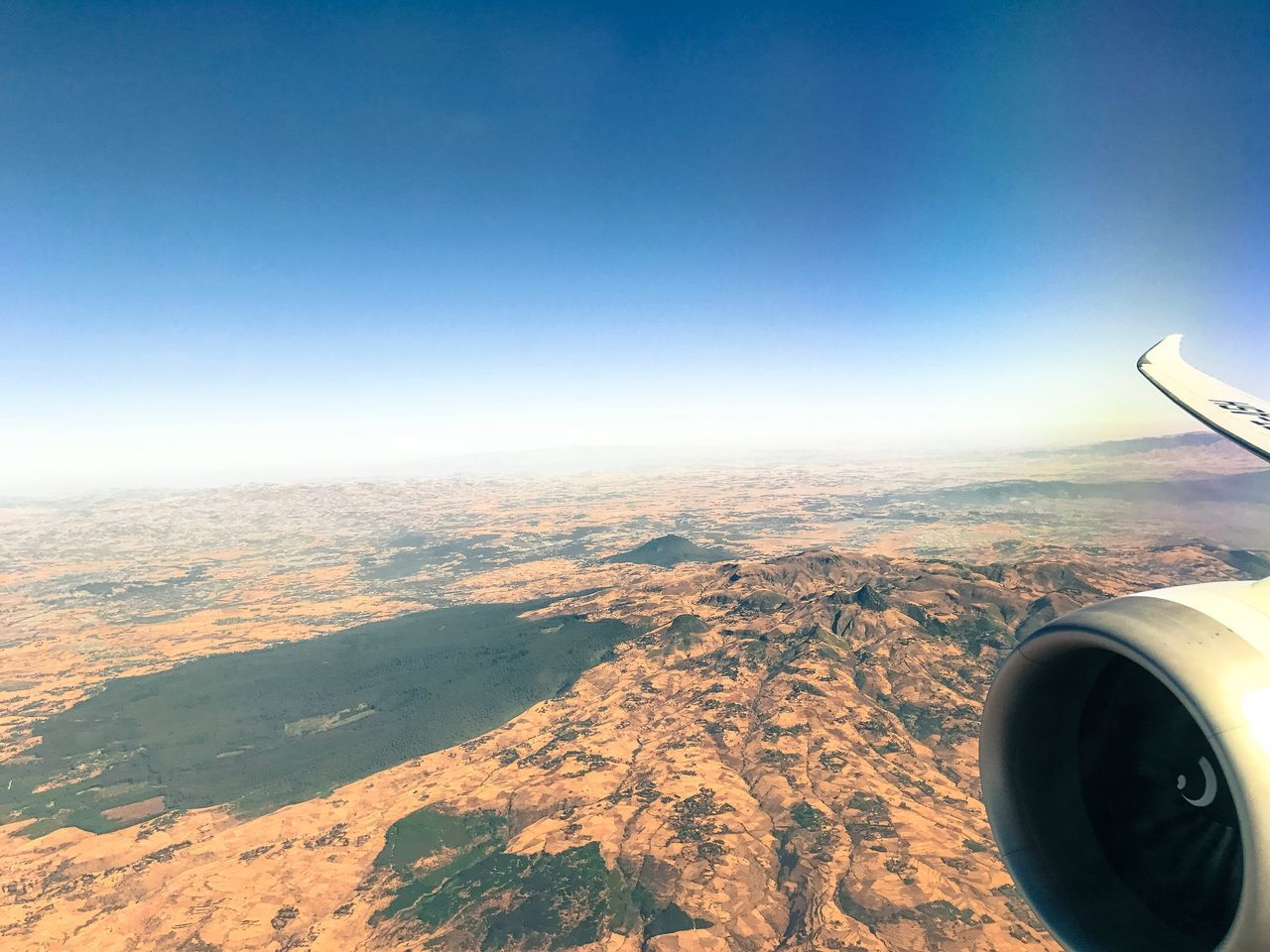 Scene - Togo Togo Africa Airplane Aerial View Landscape Scenics Beauty In Nature Flying Travel Nature Aircraft Wing Air Vehicle Transportation