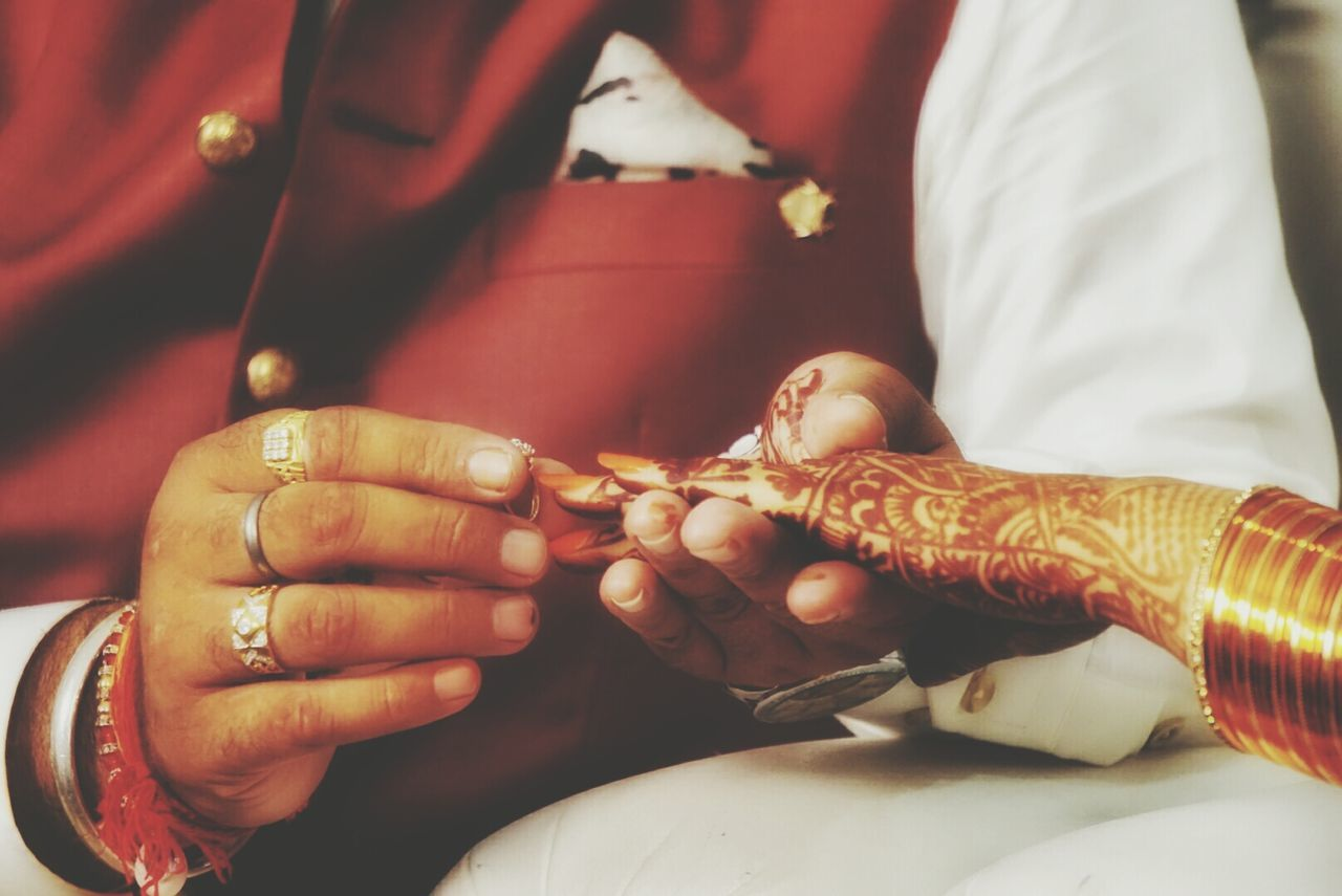 Indian Wedding Ring Ceremony  Love Marriage Ceremony Red Exchange Of Rings Wedding Photography Wedding Rings Weddings Around The World Mehendi Showcase July