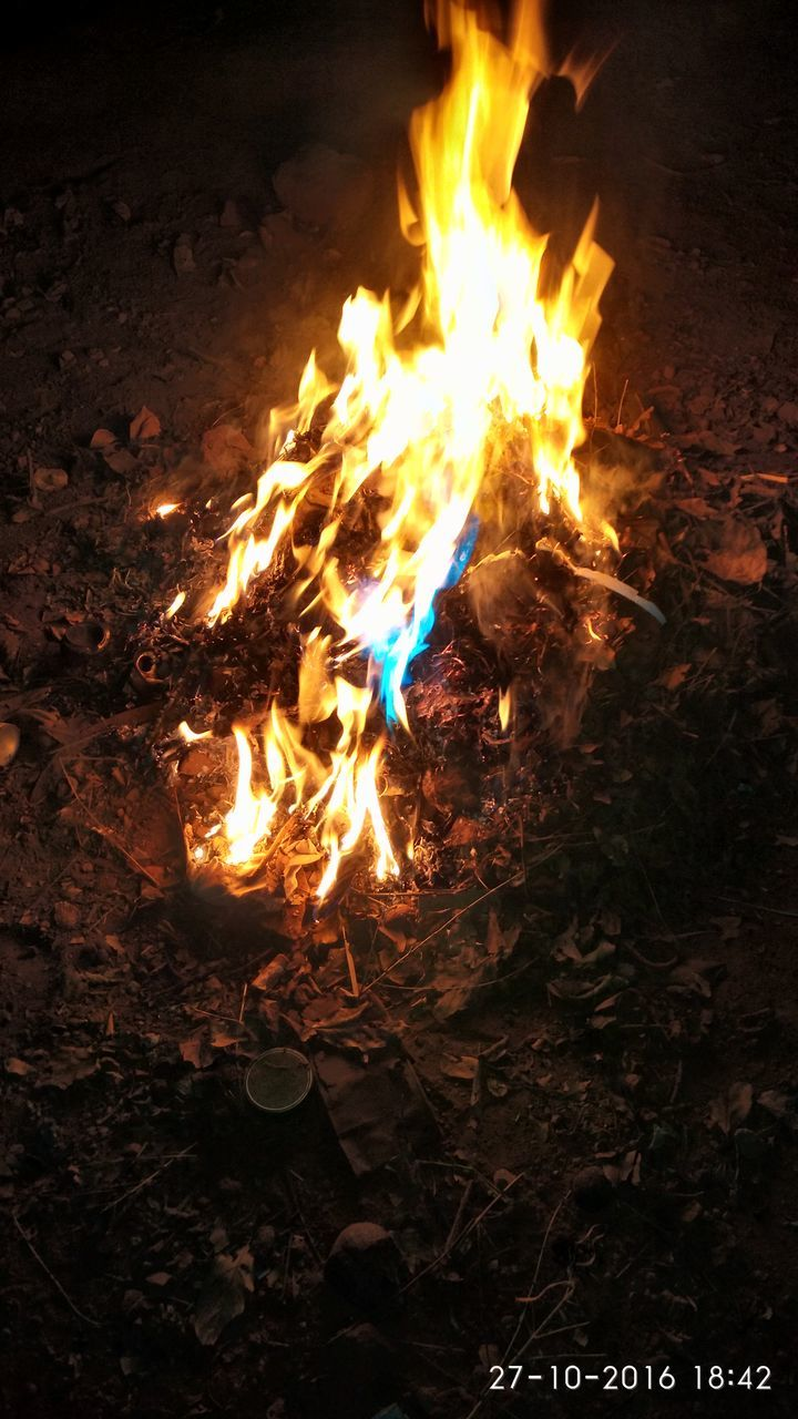 flame, burning, glowing, heat - temperature, night, no people, outdoors, bonfire, nature, close-up