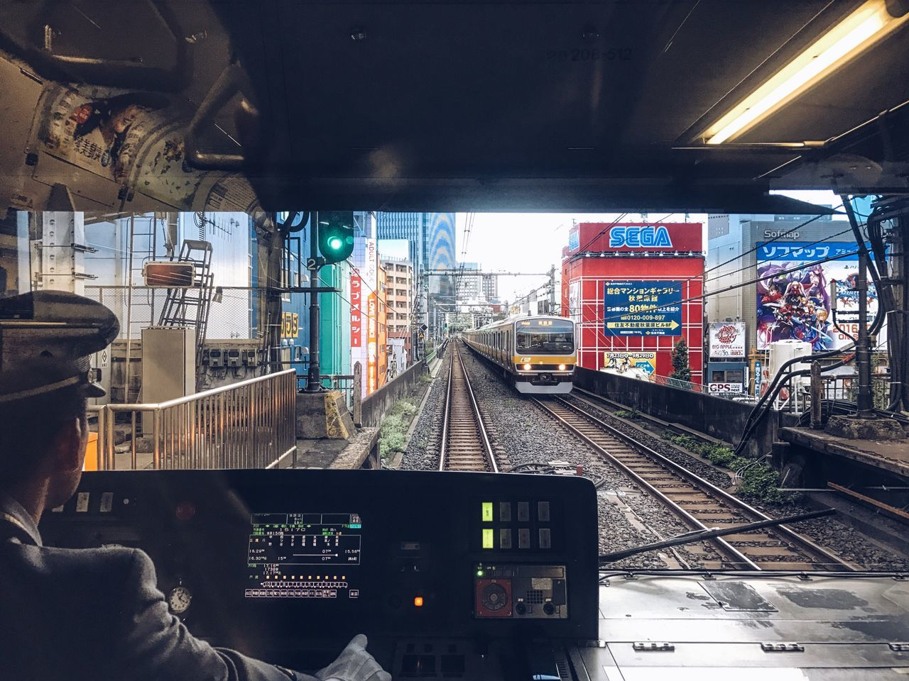 Transportation Mode Of Transport Vehicle Interior Railroad Track Windshield Land Vehicle Public Transportation Rail Transportation Travel Journey Day Tokyo