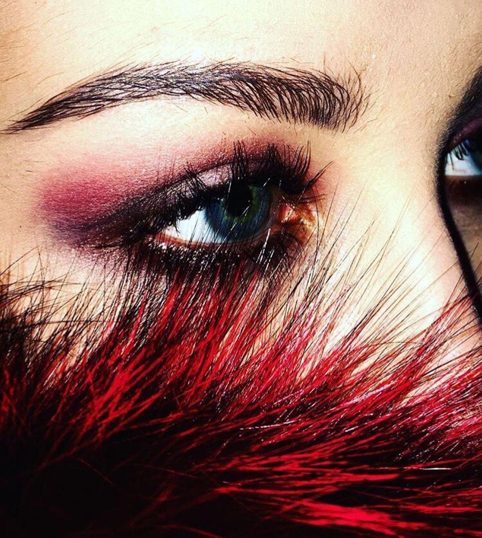 Makeup Eye Fur Red