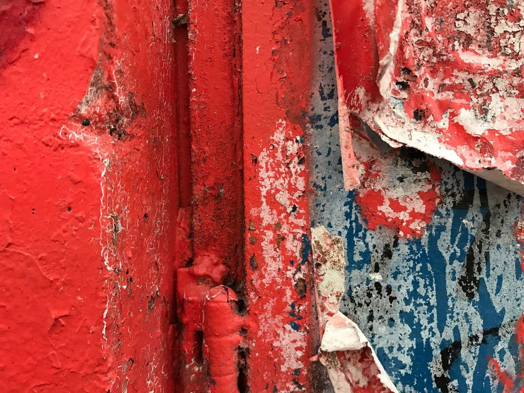 Walls of Amsterdam Red Textured  Weathered Backgrounds Outdoors Urbanphotography Urban Graffitiart Urban Street Art UrbanART Citywalls Posters Cityscape Streets Decay Close-up Rusty City Street Peeling Off Wall Weathered