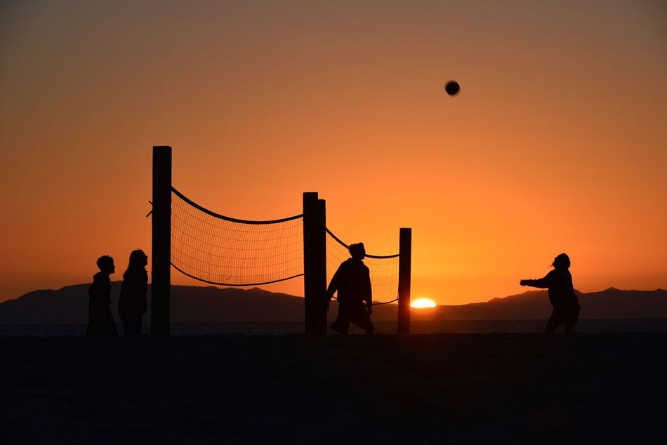 Beautiful stock photos of volleyball, Ball, Clear Sky, Group Of People, Landscape
