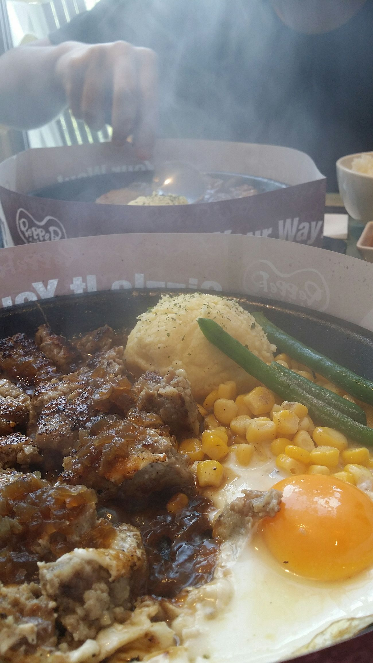 Pepper Lunch is where i am every sunday, as my kid would not let me eat anywhere else ! Sundays Food Foodcollection Foodphotography Beef Hamburg Steak Singapore