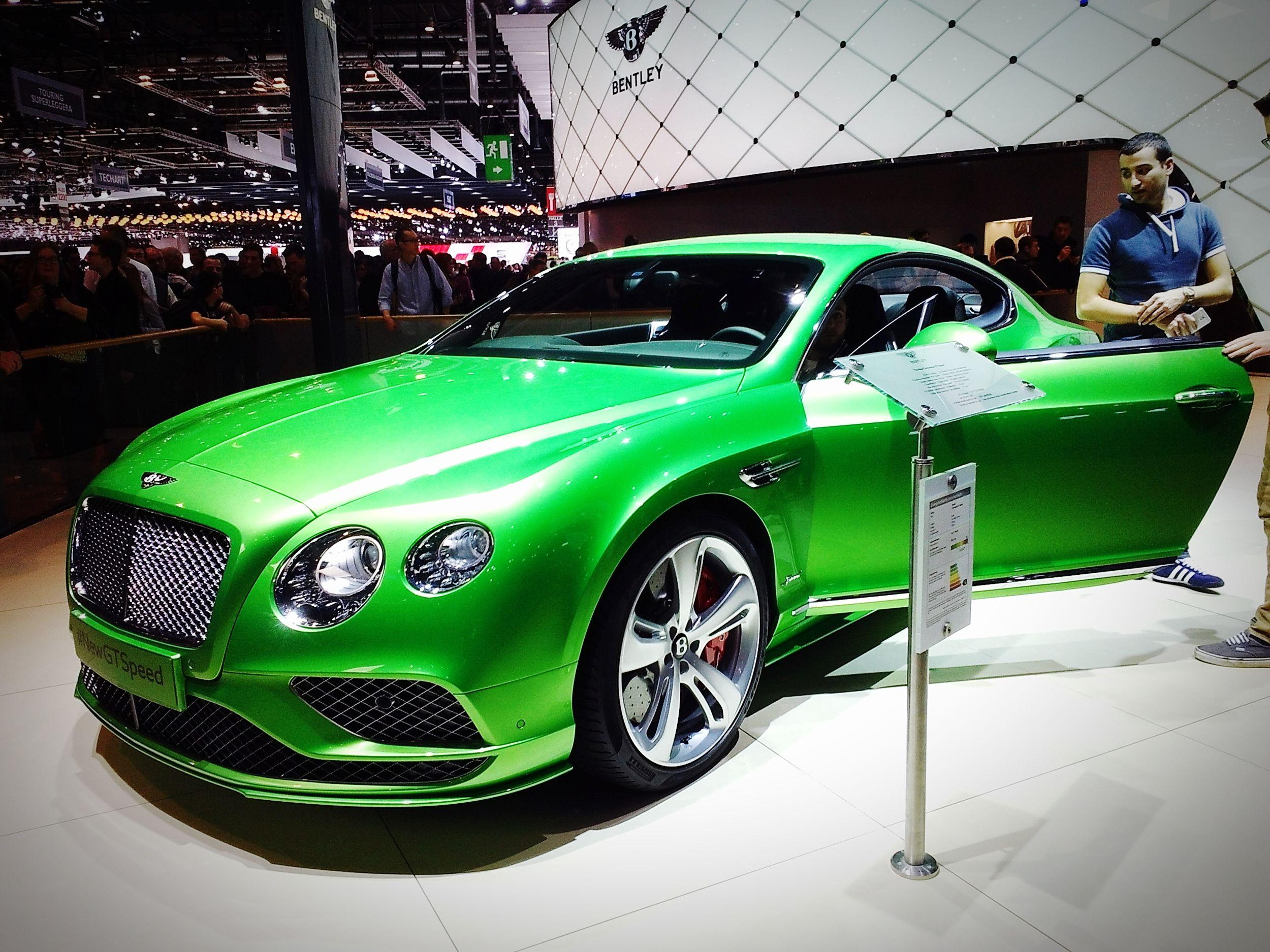 Bentley Bentley Continental GT Speed Apple Green GenevaInternationalMotorShow2015 GIMS2015 Swiss
