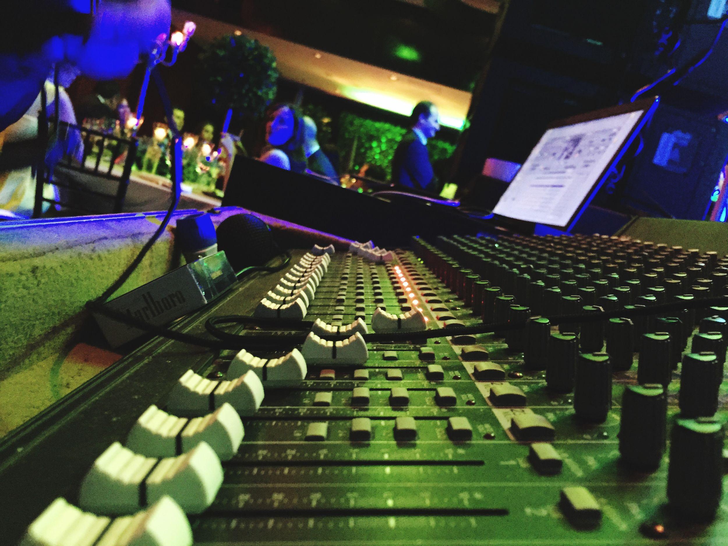 Mixer Audiomixer Closeup Working