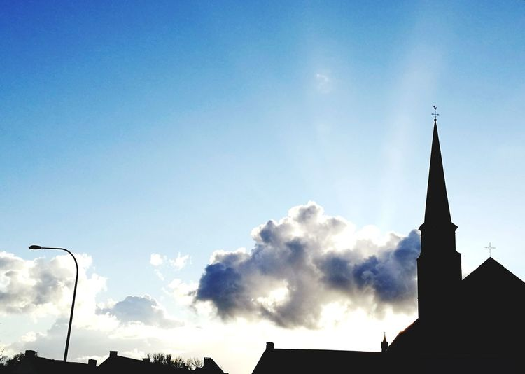 Allerheiligen Kerk Dorp Silhouette Sky Religion Spirituality Blue Outdoors Tranquility No People Architecture Sunset Low Angle View Day First Eyeem Photo