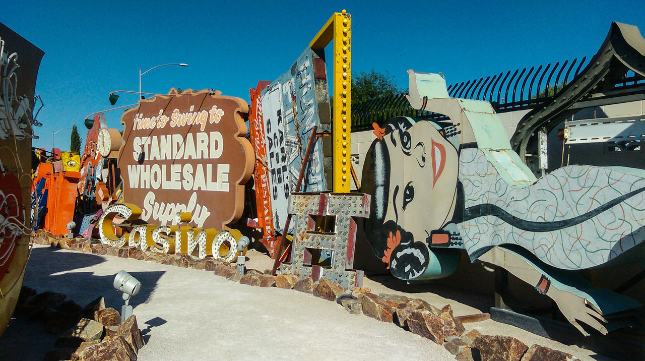 Arts Culture And Entertainment Amusement Park Outdoors Day Architecture No People City Sky Museum City Las Vegas Neon Museum Neon Sign