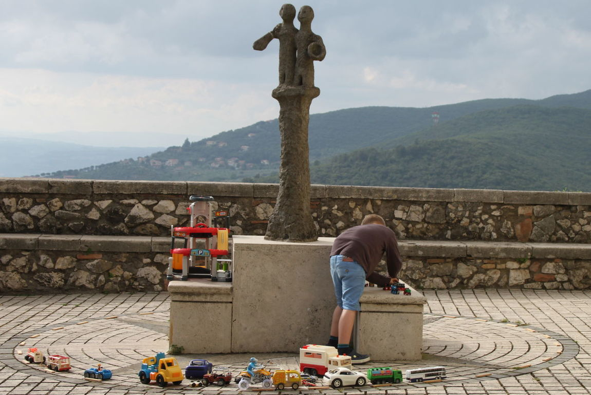 Boy Cloud - Sky Cloudy Day Italy Landscape Lifestyles Lugnano In Teverina Monument Mountain Observation Point Outdoors Sky Toys Umbria