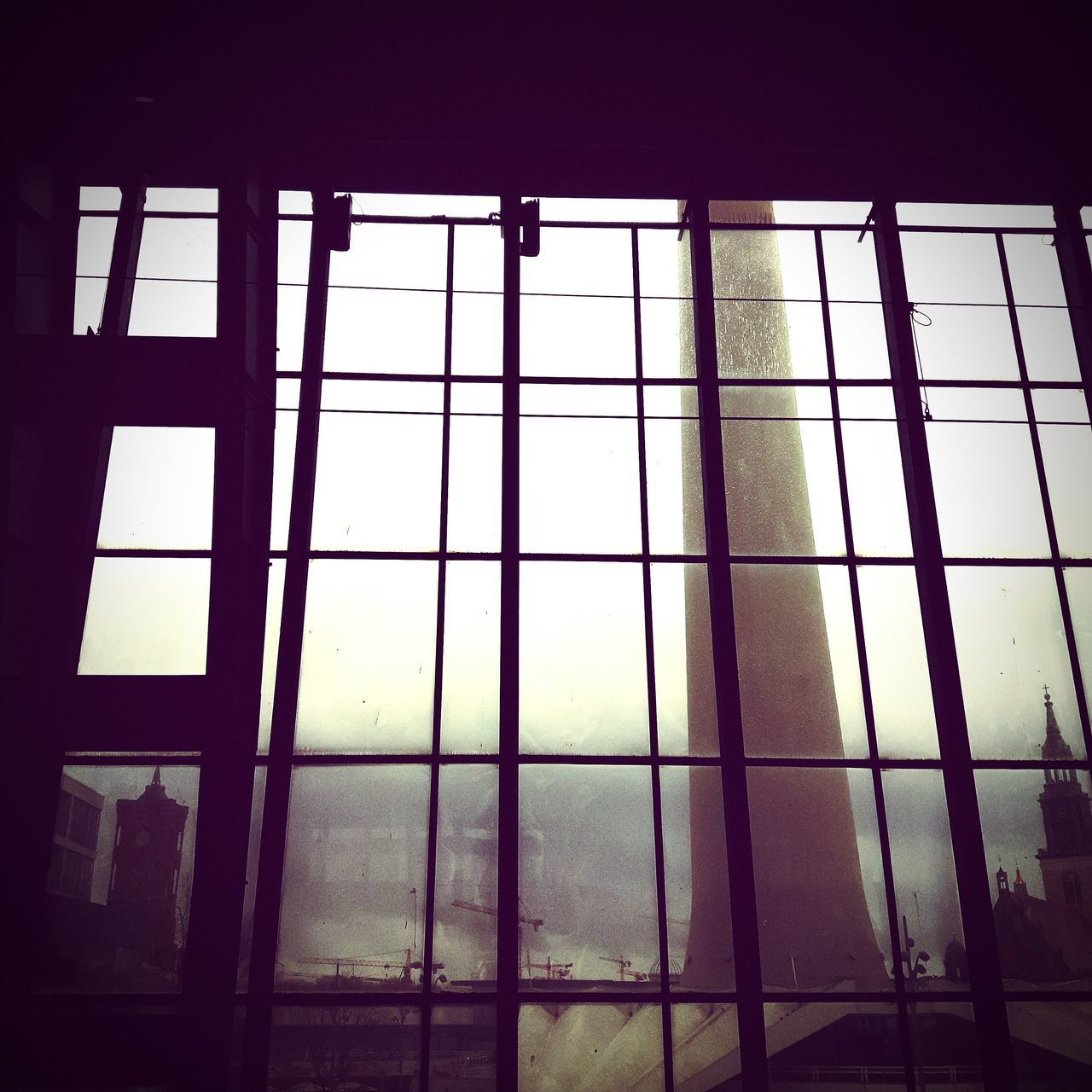 window, indoors, no people, day, low angle view, architecture, sky, close-up