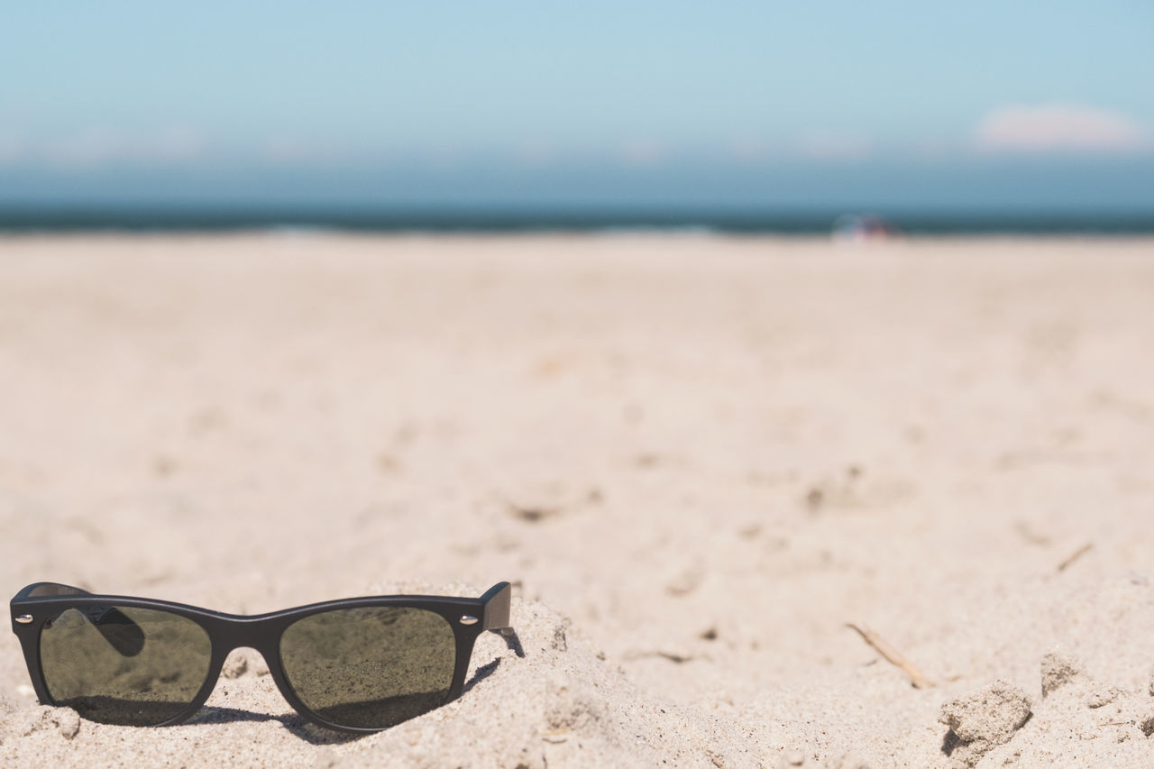 Baltic Sea Beach Beauty In Nature Bright Close-up Copy Space Day Eyeglasses  Eyesight Fun Horizon Over Water Nature No People Outdoors Protection Sand Sea Sky Summer Sunglasses Sunny Tranquility Water