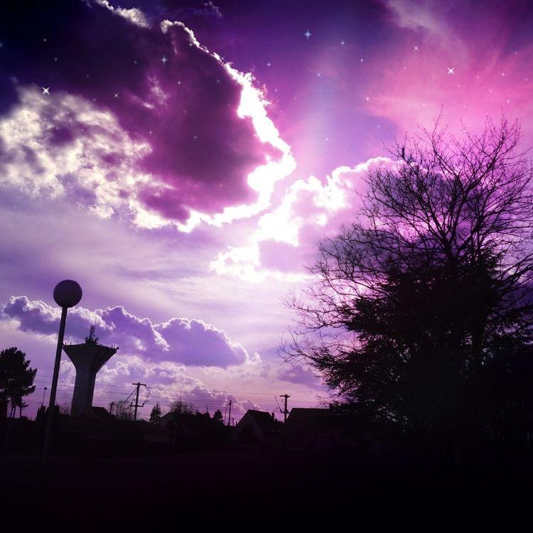 Sunshine Clouds And Sky Purple Cloudporn #color #reflective