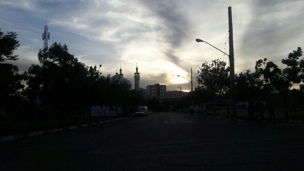Tree Cloud - Sky City Sky No People Iran♥ Urmia City Sunset