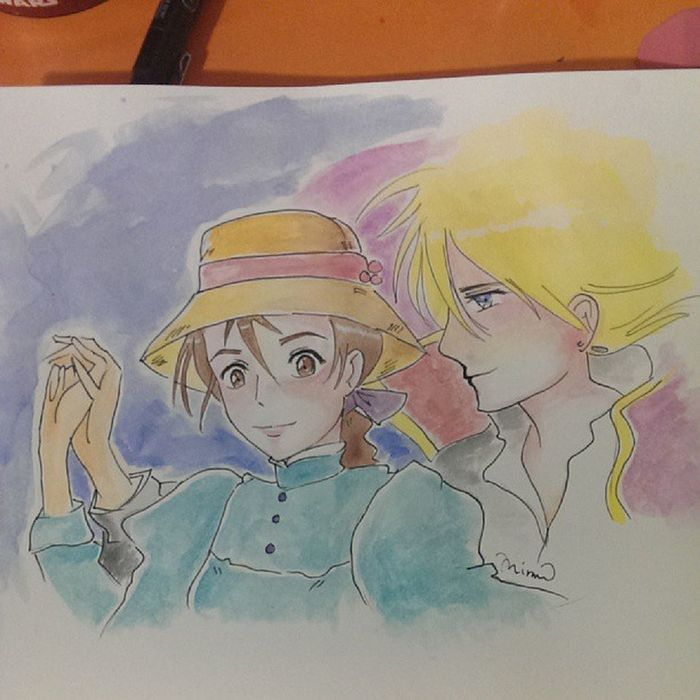 A gift for someone.. Nofilter Watercolors  Howlsmovingcastle